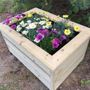 Blomster-/strøkasser og oppbevaring